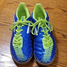 154fe7141 Adidas F50 Youth Size 6 Indoor Soccer Shoes Blue Green EUC