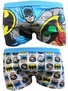 Batman Mens Boxer Trunks Two Pack size small