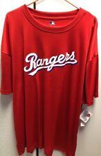 New MLB  Texas Rangers Logo Big and Tall T Shirt 4XL 4XB 4X Red