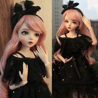 1/3 BJD Puppe Elegante Puppen Doll Mädchen With Augen Kleidung Komplettset Girls