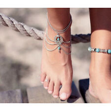Luxury Turquoise Barefoot Sandal Beach Anklet Foot Chain Jewelry Ankle Bracelets