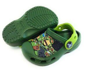 Infant Toddler Crocs Teenage Mutant Ninja Turtles TMNT Slip On Sandals Shoes
