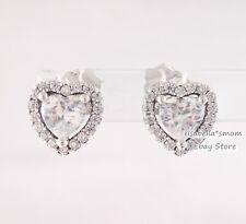 ELEVATED HEART Authentic PANDORA Love Stud VALENTINE'S Earrings 298427C01 NEW!