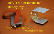 REVO , Motor Mount, Battery tray, with straps,