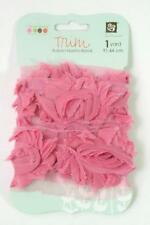 Prima Marketing ROSE TRIM Pink Cheer Fabric Ribbon Donna Downey 1 Yard 921569