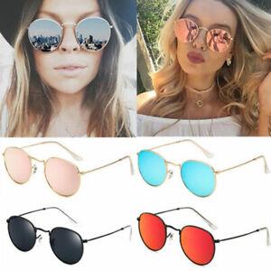 Vintage Retro Oversized Round Sunglasses Men Women's Vintage Mirror Glasses NEW