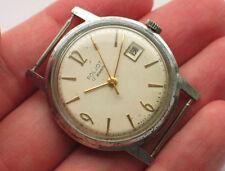 Rare soviet POLJOT watch Classic Creme Dial 1st MChZ USSR *SERVICED* '1960s