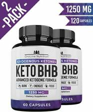 Oroline KETO BHB Diet Pills ADVANCED WEIGHT LOSS 1250mg 60 caps x 2 Bottles