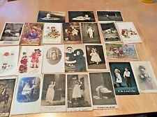 23  VINTAGE  POSTCARDS OF CHILDREN , SOME REAL PHOTOS