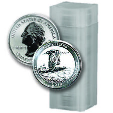 40 Coin Roll - 2018-S Block Island Reverse Proof Silver Quarters - (#10003)