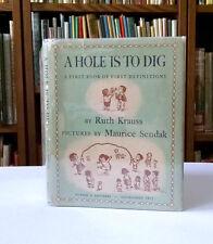 Maurice Sendak, Ruth Krauss, A HOLE IS TO DIG, 1st Edition 1952, HC/DJ