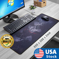 Extended Large Gaming Mouse Pad World Map Anti-slip Desk Computer Keyboard Mat