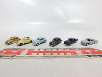 CA591-0, 5 #6x Busch 1:87 / H0 Car Volkswagen / VW: Beetle + Karmann Ghia, Mint