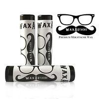 Wax-A-Stache Original UNSCENTED Moustache Wax 3pk Travel Tubes  IT'S THE BEST!!!