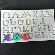 3D Alphabet Letter Silicone Fondant Mold Cake Chocolate Sugarcraft Cutter Mould