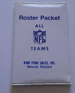 Vintage NFL Roster Packet All NFL Teams 1972 Complete 26 Teams FORD, HANCOCK,MD.