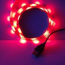 Alimentazione USB 1 M LED Striscia Illuminazione retroilluminazione rossa qualsiasi TV, XBOX, PSP, PC tramite USB