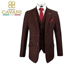 Mens Cavani Draco Tweed Blazer Waistcoat Trousers 3 Piece Suit Sold Separately