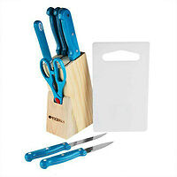 Keimav Knife 10-piece Set (Light Blue)