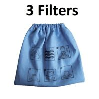 (3) Cloth Filter for Craftsman 2&2-1/2 Gal. Shop Vac 916949, 9-16949, MICROLINED