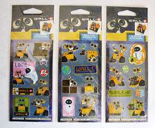 RARE 3 X WALL E EVE MO M O STICKER SHEETS 26 STICKERS DISNEY PIXAR BRAND NEW !