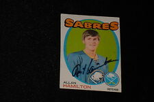 ALLAN HAMILTON 1971-72 TOPPS SIGNED AUTOGRAPHED CARD #49 SABRES