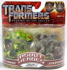 Transformers ROTF Robot Heroes Optimus Prime & Blackout Factory Sealed