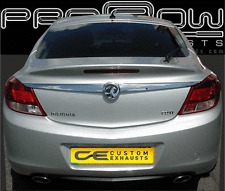 VAUXHALL INSIGNIA STAINLESS STEEL CUSTOM BUILT EXHAUST BACK BOX DUAL TAIL PIPES