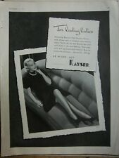 1937 Vintage Kayser Be Wiser Hosiery Stockings for Leading Ladies Fashion Ad