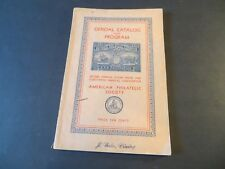 1930 Aps National Philatelic Exhibition Convention Catalog - 2nd Annual Stamp