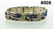 Hallmark Egypt Египет Ägypten Pharaoh Silver Bracelet ,Eye of Horus and Lapis