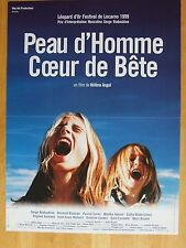 AFFICHE - PEAU D'HOMME COEUR DE BETE Hélène ANGEL Serge RIABOUKINE LOCARNO 1999