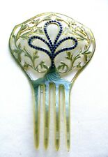 Art Deco moiré effect hair comb Spanish style hair accessory