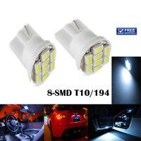 4 SMD LED XENON WHITE QUAD 501 T10 SIDELIGHT BULBS FORD FIESTA HATCHBACK 2PCS