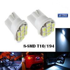 501 4 SMD LED NUMBER PLATE BULBS WHITE XENON T10 W5W 194 WEDGE LAMP LIGHT X2 12V