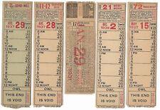 1930s Lot 5 Cincinnati St Ry ticket College Hill (Oakley) Bond Hill Fairview +