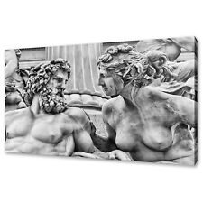 ANCIENT ART SCULPTURE OF MAN AND WOMAN CANVAS PRINT WALL ART PICTURE
