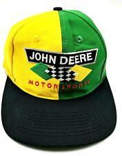 JOHN DEERE CHAD LITTLE MOTORSPORTS HAT yellow / green adjustable cap / hat 1997