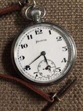 Reloj de bolsillo HELVETIA 15 Joya Funciona Perfecto Con Segunda Guerra Mundial Correa Marrón