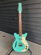 Danelectro '59 Vintage 12-String Electric Guitar in Dark Aqua Blue Finish MINT!!