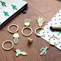 Lovely Gift Creative Cute Alloy Plant Cactus Charm Car KeyChain Key Chain Ring