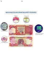 250,000 IRAQI DINAR UNCIRCULATED CURRENCY 10 x 25,000 IQD