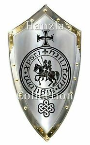 Replica 36 inch MEDIEVAL KNIGHT SHIELD All Metal Handcrafted Battle Armor Shield