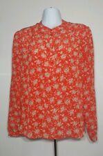 Sezane Blouse Top Silk Red Floral Womens Size Eur 40