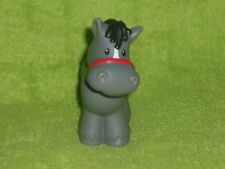 Fisher Price Little People Dark Gray Farm Horse No Spots