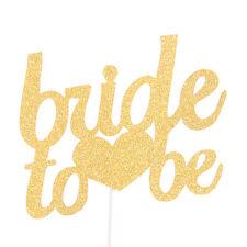 Vincenza Bride to be Corazón Papel Torta Topper Decoración para Aniversario Boda