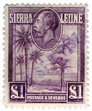 (I.B) Sierra Leone Revenue : Duty Stamp £1