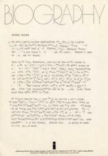 Robert Palmer Sneakin' Sally Through the Alley Island Rec. UK Press Kit 1974