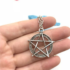 Pentagram Charm Necklace Charms Jewelry Tibet silver Pendant Chain Necklace