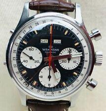 Vintage Wakmann Triple Date Chronograph Wristwatch